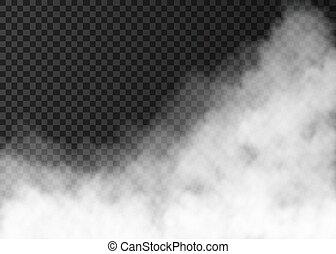 isolé, ou, arrière-plan., brouillard, fumée, blanc, transparent