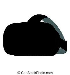 isolé, réalité, lunettes, virtuel