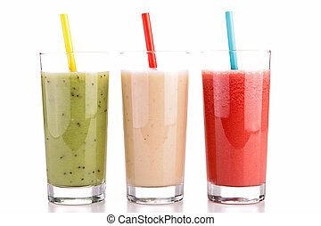 isolé, smoothies