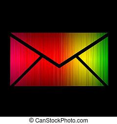 isolé, spectre, arrière-plan., incandescent, noir, email