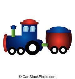 isolé, train, jouet