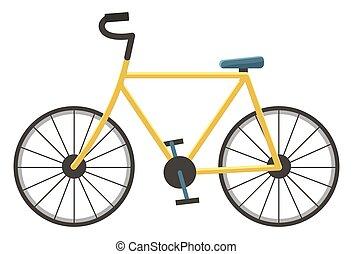 isolé, transport, sport, vélo, véhicule