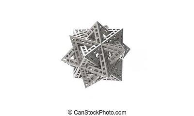 isolé, triangle, rendre, aimer, 3d, complexe, escher, forme...