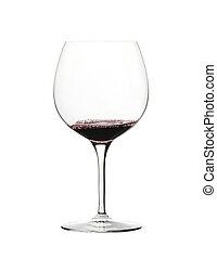 isolé, verre, fond, blanc rouge, vin