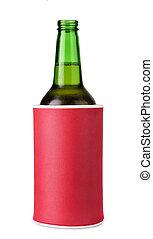 isolação, cerveja, espuma, suporte, garrafa