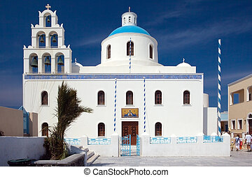 isola,  2,  Santorini, chiesa