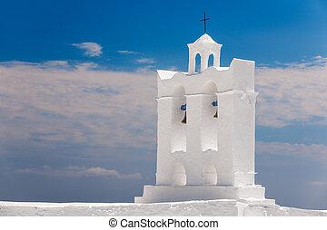 isola, campanile, sifnos, cappella