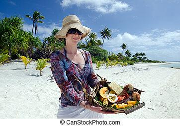 isola, cibo, abbandonato, tropicale