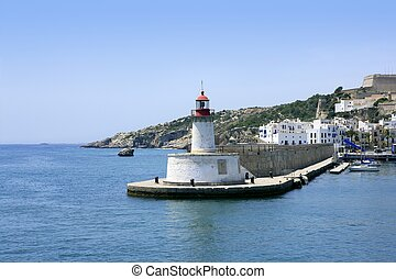 isola ibiza, mediterraneo, punto di riferimento, mare