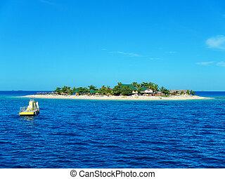 isola marittima meridionale, in, gruppo isola mamanuca, figi