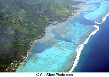 isola, pacifico, laguna