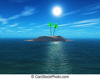 isola, palma, 3d