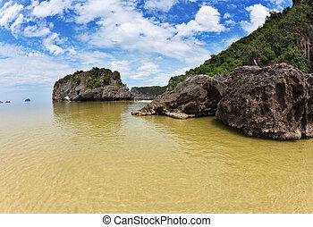 isola, pittoresco, al, costa