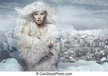 isola, regina, neve, ghiaccio