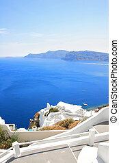 isola, santorini, grecia