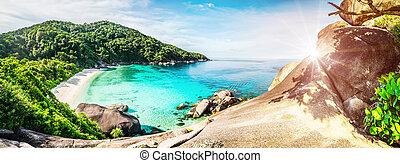 isola tropicale, laguna