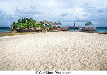 isola tropicale, spiaggia, paesaggio