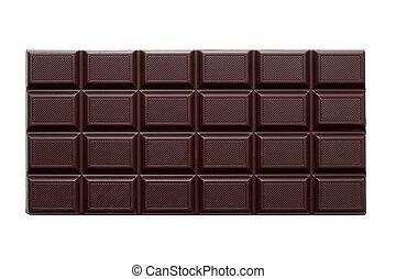 isolado, chocolate