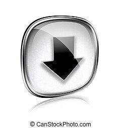 isolado, cinzento, experiência., vidro, download, branca, ícone
