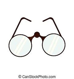 isolado, colorido, óculos