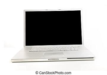 isolado, computador laptop
