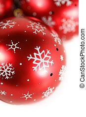 isolado, decoração, experiência., branca, close-up, natal