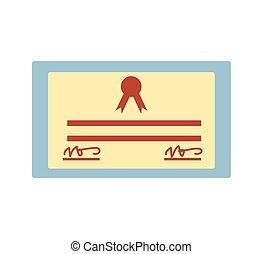 isolado, graduação, certificado, ícone