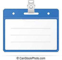 ), isolado, id, em branco, emblema, (identification, cartão