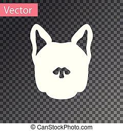 isolado, ilustração, cão, experiência., vetorial, branca, transparente, ícone