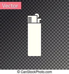 isolado, ilustração, experiência., vetorial, isqueiro, branca, transparente, ícone