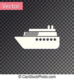 isolado, ilustração, experiência., vetorial, navio, branca, transparente, ícone