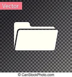 isolado, ilustração, pasta, experiência., vetorial, branca, transparente, ícone