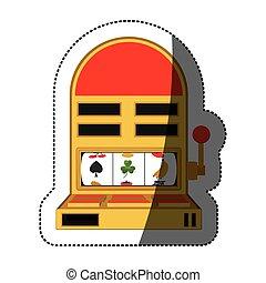 isolado, máquina slot, desenho