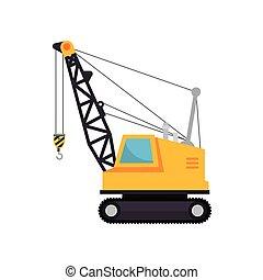 isolado, maquinaria construção, ícone