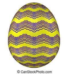 isolado, páscoa, ovo branco, experiência.