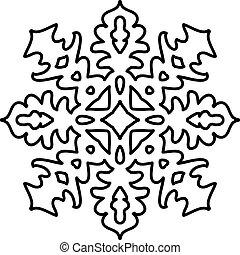 isolado, padrão snowflake, branco, experiência.