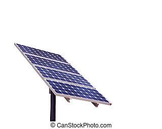 isolado, painel solar
