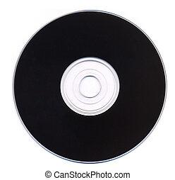 isolado, registro, pretas, vinil, fundo, branca