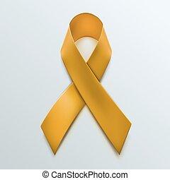 isolado, sinal amarelo, experiência., fita branca