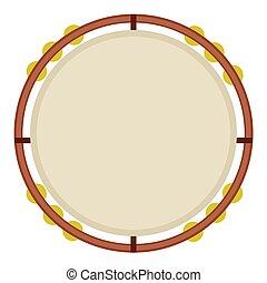 isolado, tambourine, imagem