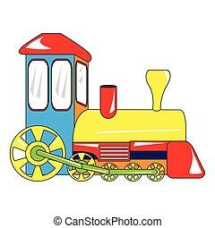 isolado, trem, brinquedo