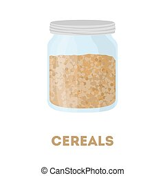 Isolaed cereals jar.