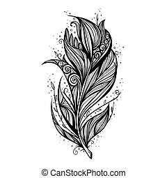 Isolate feather icon vector illustration
