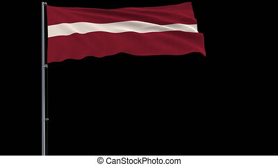 Isolate flag of Latvia, 4k prores 4444 footage with alpha transparency