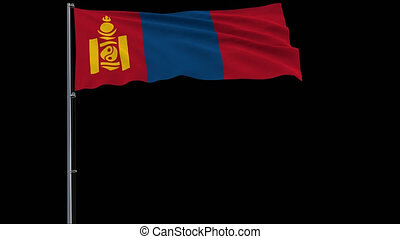 Isolate flag of Mongolia, 4k prores 4444 footage with alpha transparency