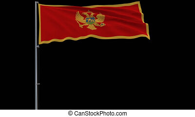 Isolate flag of Montenegro, 4k prores 4444 footage with alpha transparency
