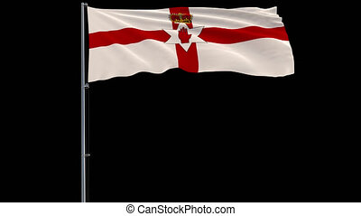 Isolate flag of Northern Ireland, 4k prores 4444 footage with alpha