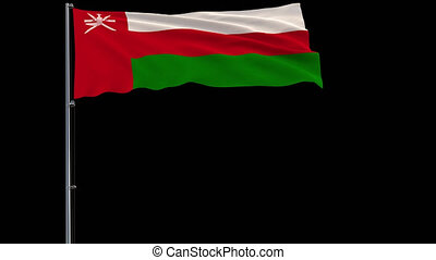 Isolate flag of Oman, 4k prores 4444 footage with alpha transparency