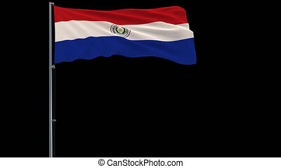 Isolate flag of Paraguay, 4k prores 4444 footage with alpha transparency
