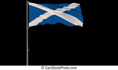 Isolate flag of Scotland, 4k prores 4444 footage with alpha transparency